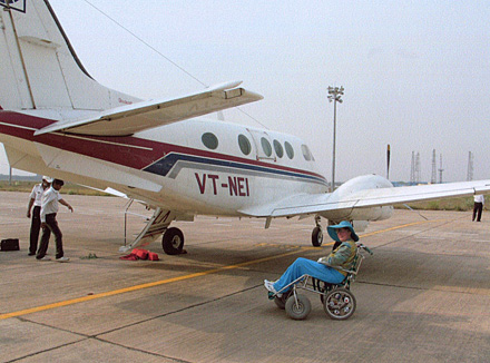 travel disabled wheelchair india jet