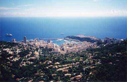 Monaco offers beautiful views from the mountain tops overlooking the ocean