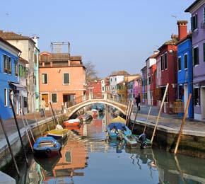Canal in Burano Italy