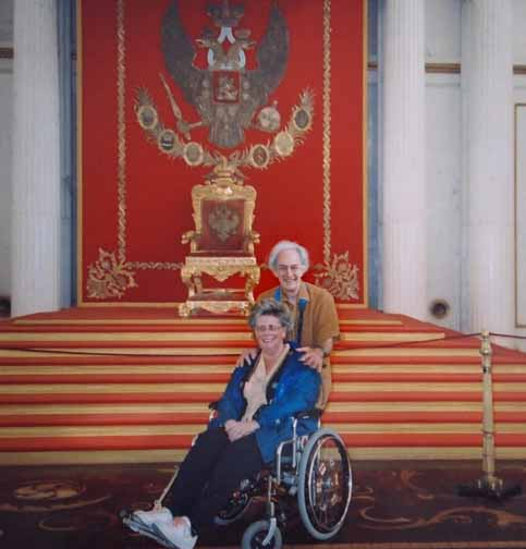 Nate and Nancy Berger at Catherine The Great throne in Russia