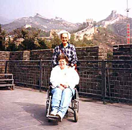 travel disabled wheelchair nan on great wall china